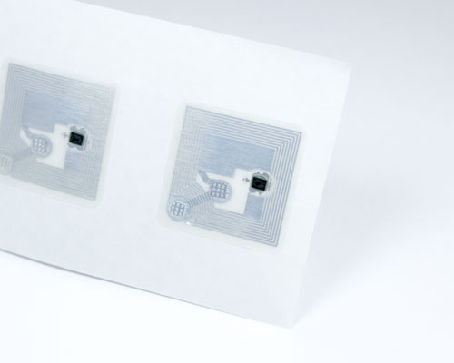 Image of 19x19mm Clear NTAG413 NFC Tag