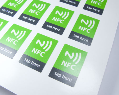 Image of Printed Labels Sheet Express NFC Tag