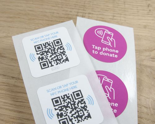 Image of Printed Labels Roll Express NFC Tag
