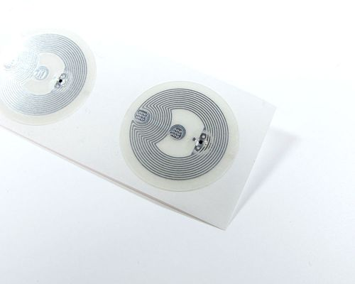 Image of 25mm Clear Garment Spec NTAG213 NFC Tag