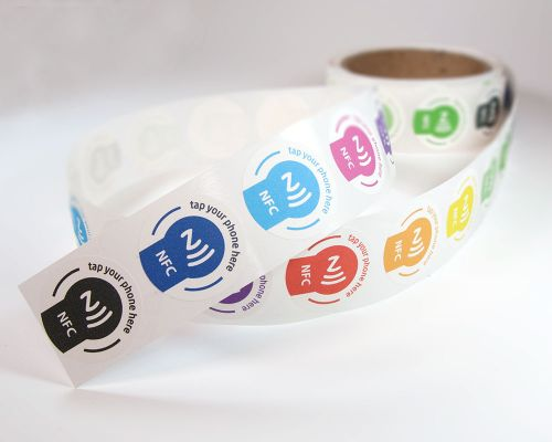 Image of Tap Printed Label NFC Tag